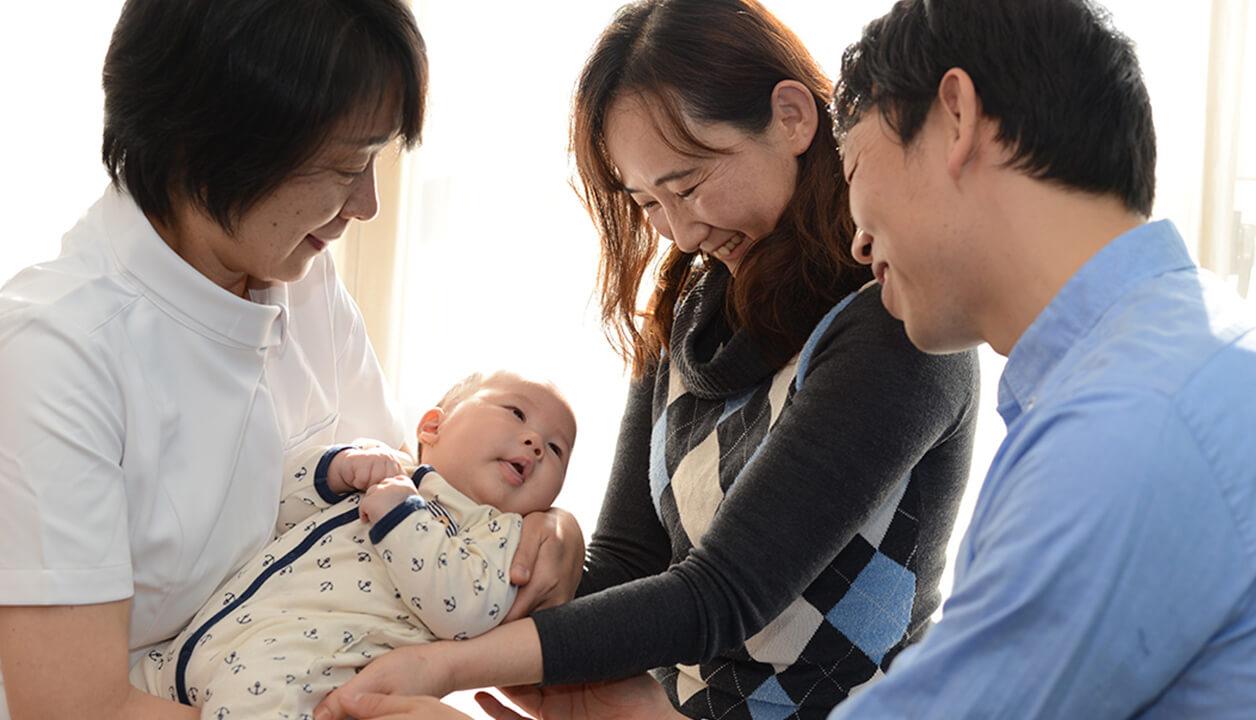 赤ちゃんのお迎え/退院